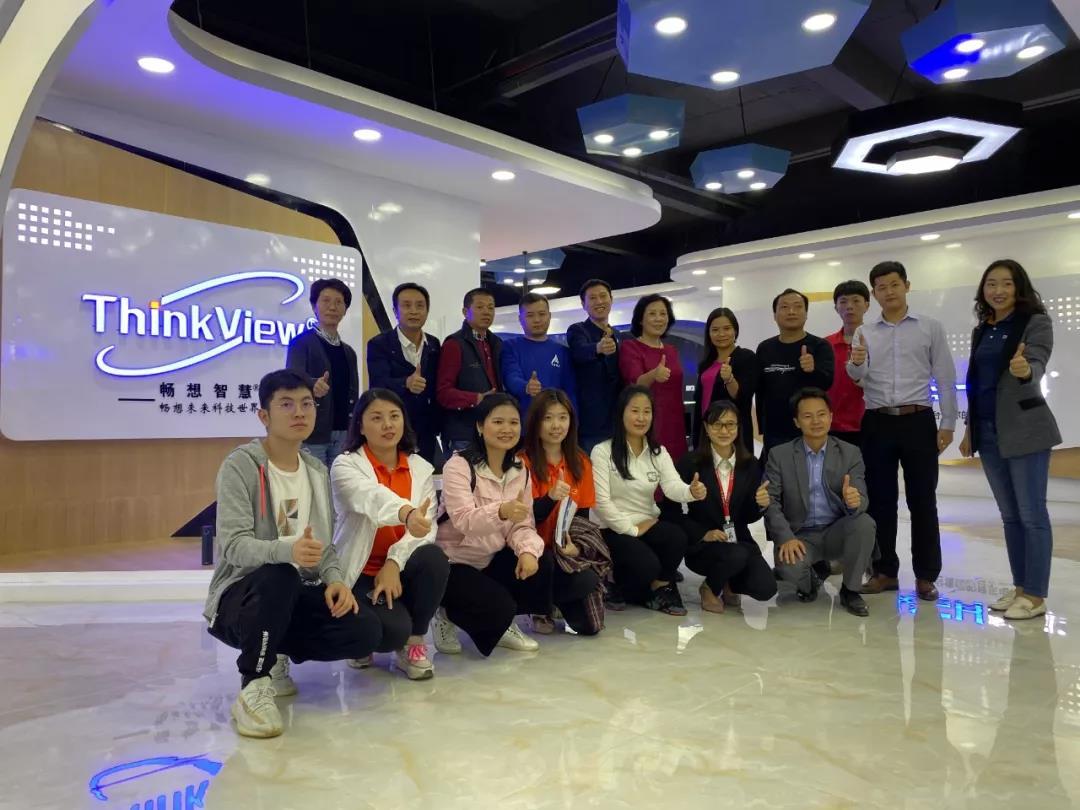 深セン電子商工会議所が深センImagineVision Technology CoLtdに来て作業を指導してくれてありがとう